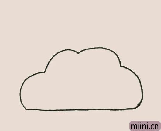 简笔<a href=http://www.miini.cn/hhds/ target=_blank class=infotextkey>画</a>之彩虹云
