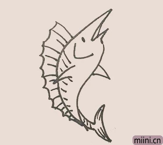 简笔画之旗鱼
