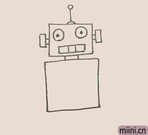 简笔画之机器人