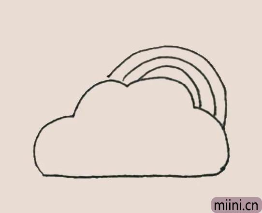 简笔画之彩虹云