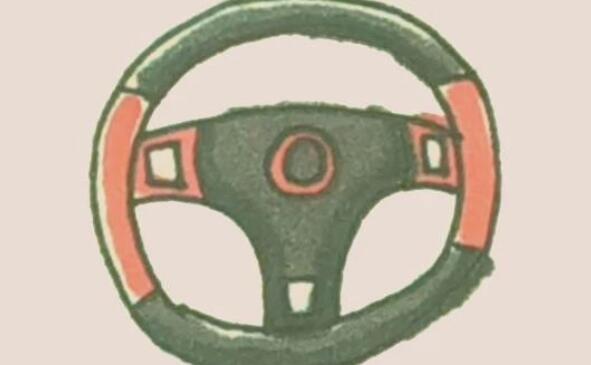 开车用的方向盘简笔画步骤图解
