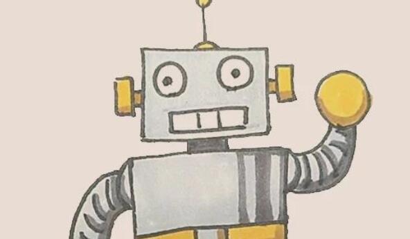机器人简笔画步骤图解