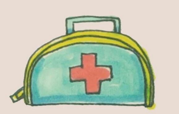 医疗用的急救包简笔画图解
