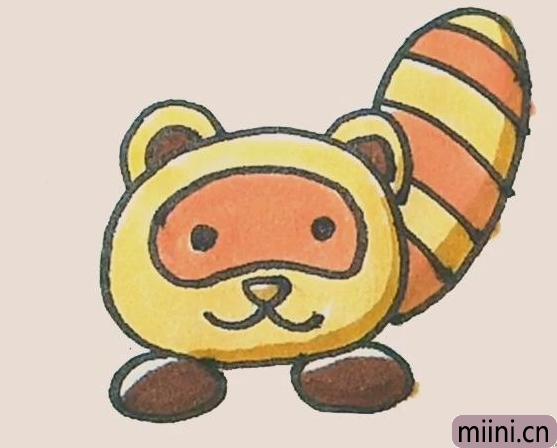 简笔画之小熊猫