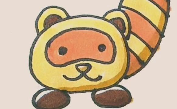 小熊猫简笔画步骤图解
