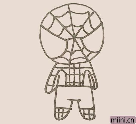简笔画之蜘蛛侠