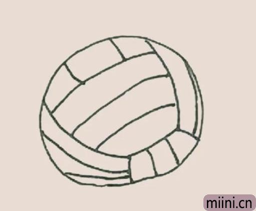 简笔画之排球