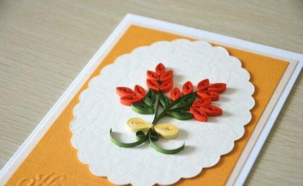 花朵贺卡��纸制作步骤