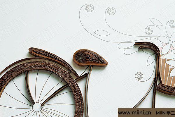衍纸单车 第10步