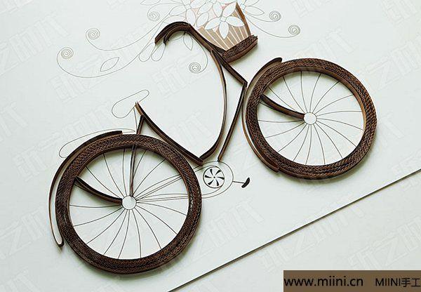 衍纸单车 第6步