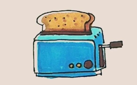 面包机简笔画步骤图解