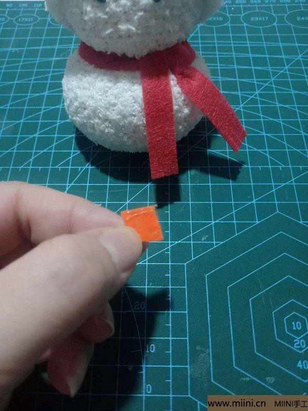 毛巾袜di圣诞雪宝宝 第26步