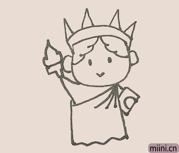 简笔画之自由女神