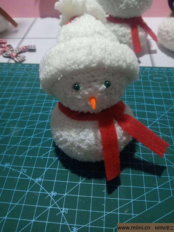 毛巾袜di圣诞雪宝宝 第28步