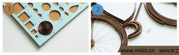 衍纸单车 第12步