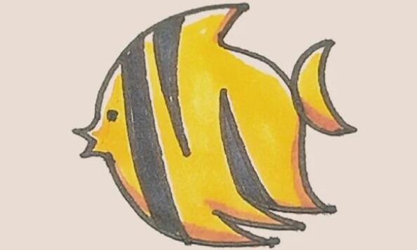 热带鱼简笔画步骤图解