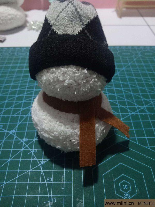 毛巾袜di圣诞雪宝宝 第21步
