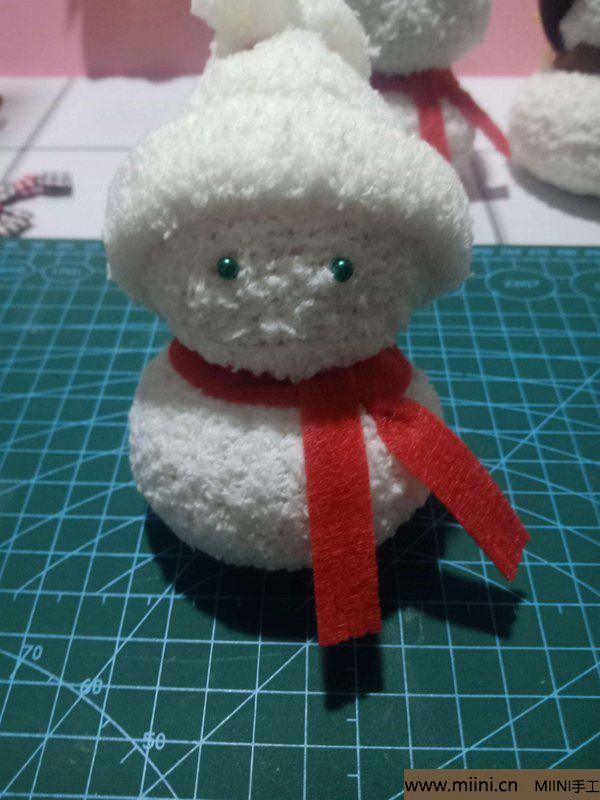 毛巾袜di圣诞雪宝宝 第24步