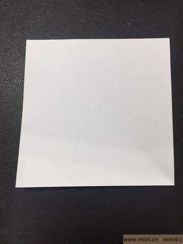 红掌花折纸教程 第1步