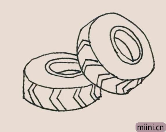 简笔画之轮胎