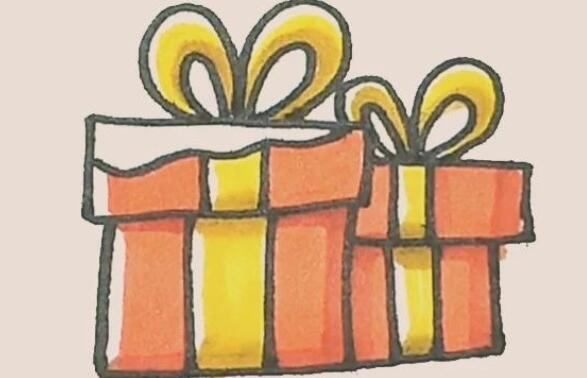 小礼物盒简笔画步骤图解