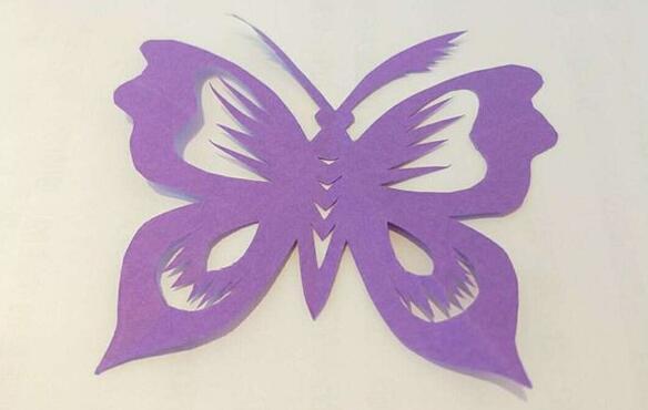好看的蝴蝶剪纸步骤图解