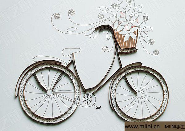 衍纸单车 第4步