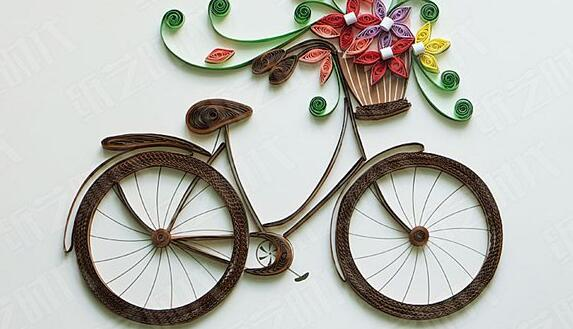 好看的��纸自行车画步骤图解