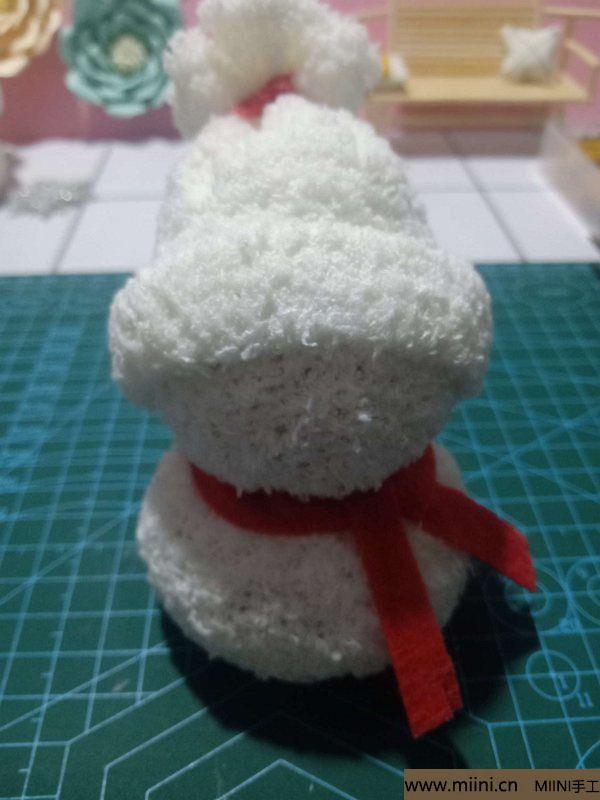 毛巾袜di圣诞雪宝宝 第22步