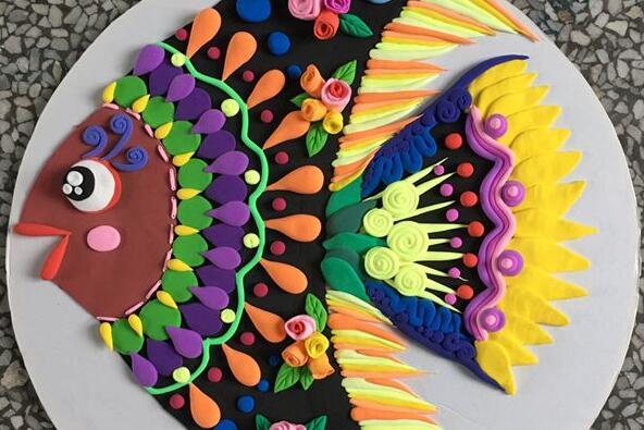粘土纸盘热带鱼制作教程