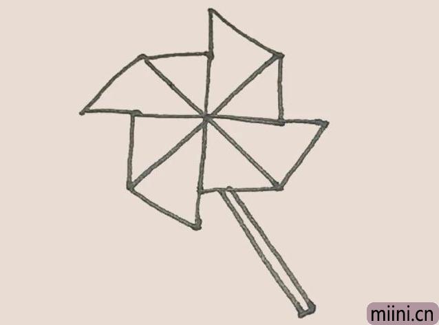 简笔画之风车