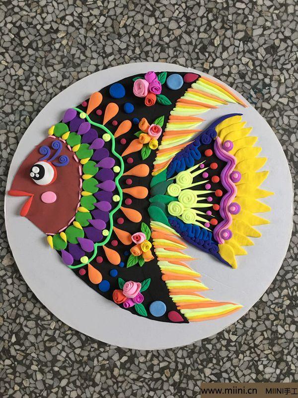 纸盘粘土鱼 第10步