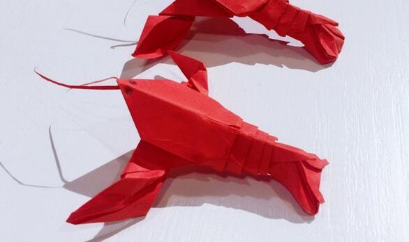 小龙虾的折纸步骤教程