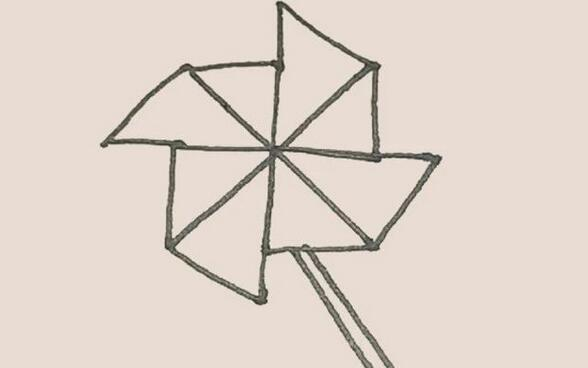 玩具风车简笔画步骤图解