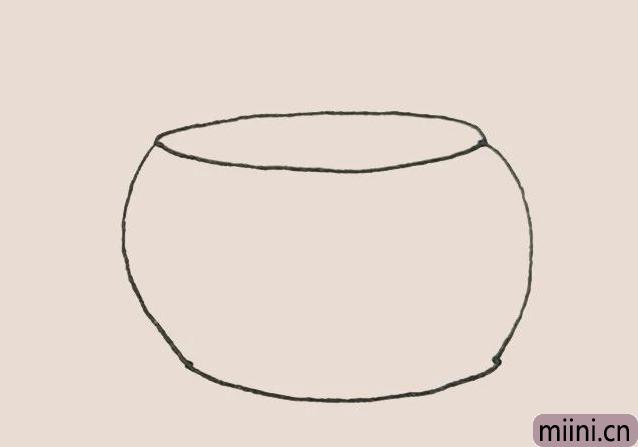简笔画鱼缸