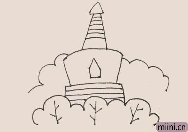 简笔画之白塔