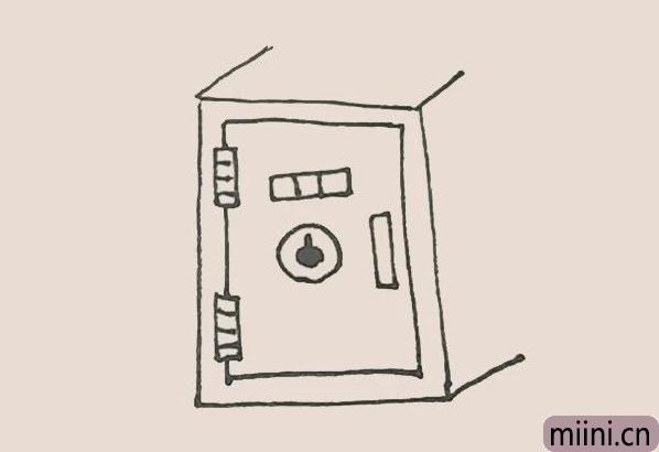 简笔画之保险柜