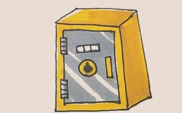 保险箱子简笔画步骤
