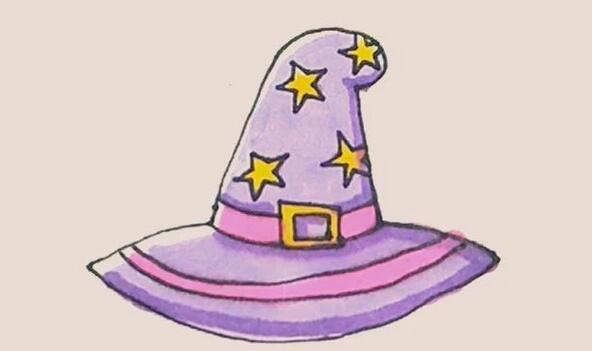 女巫师帽子简笔画教程