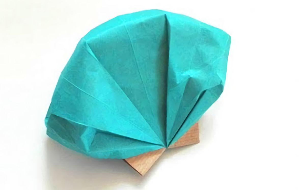 浅海拾贝!教你折纸漂亮的贝壳