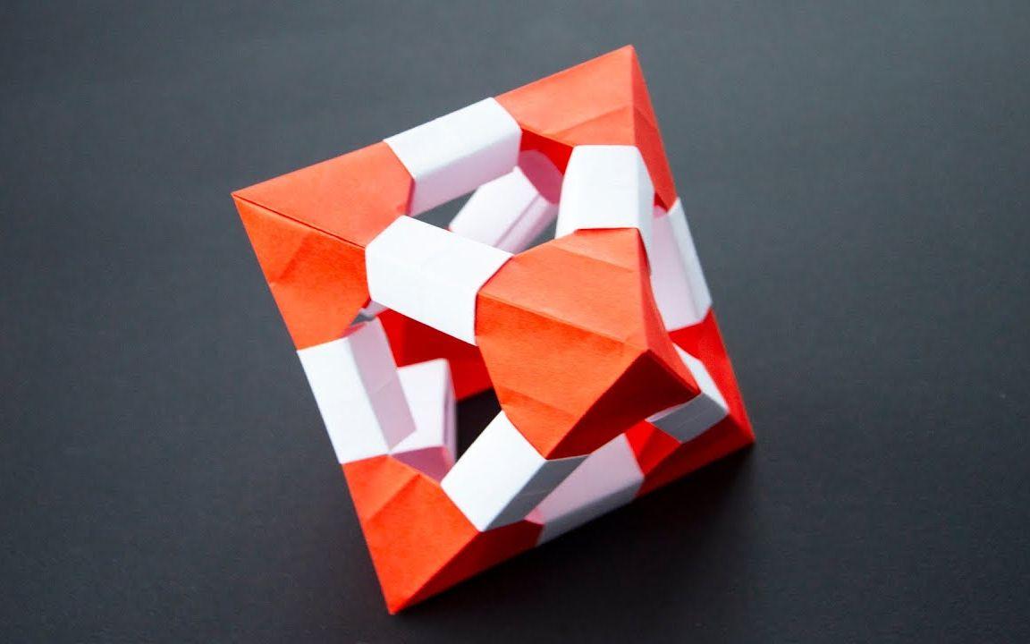 教您一个立体菱形的折纸教程