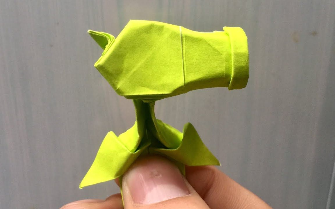教你折纸《植物大战僵尸》里的豌豆射手