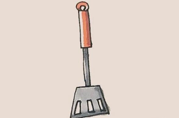 炒菜的锅铲简笔画步骤图解