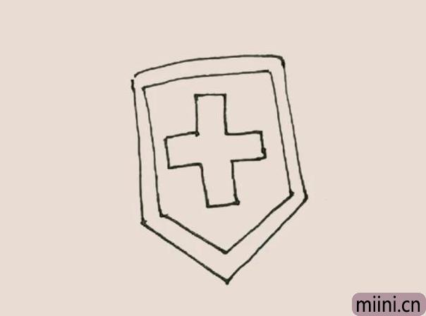 简笔画之盾牌
