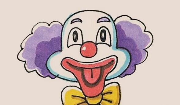 爱笑的小丑简笔画步骤图解