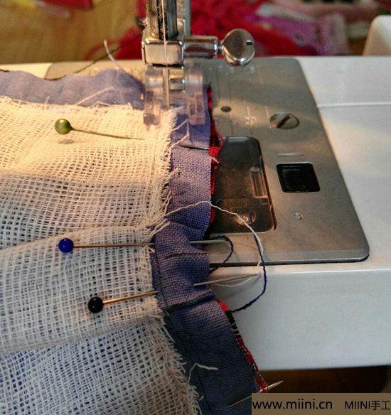 diy透气的纱布口罩 第6步
