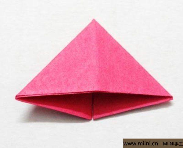 三角插折纸鱼教程 第8步