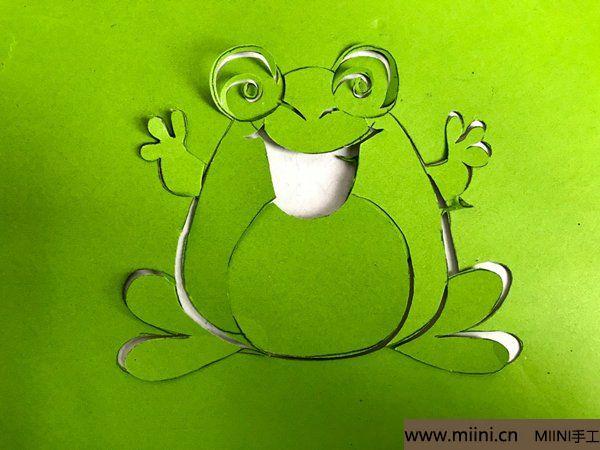 剪纸大青蛙 第5步