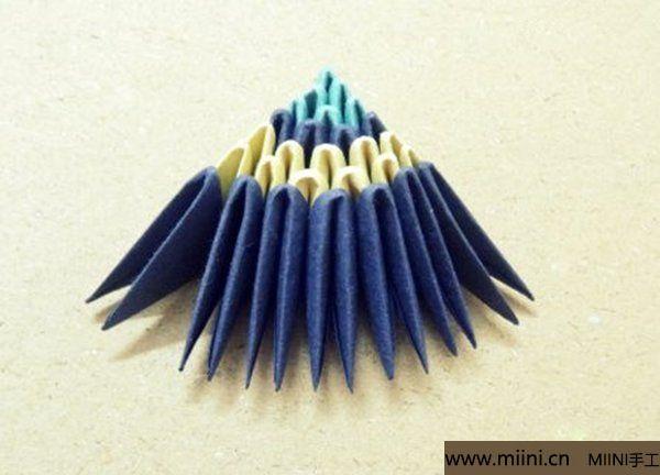 三角插折纸鱼教程 第18步