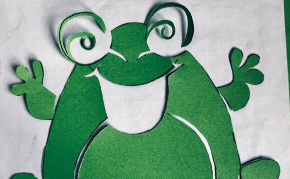 可爱的剪纸小青蛙教程